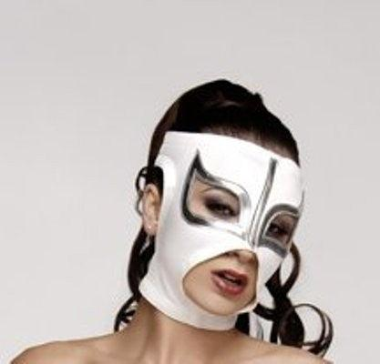 SEXY LADY MASK WHITE Mexican Wrestling Lucha Libre Mask MEXICAN LUCHA LIBRE WRESTLING MASK HALLOWEEN