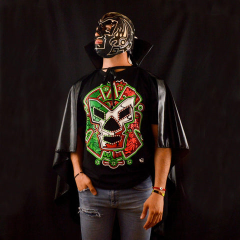 CAPE ADULT BLACK MEXICAN WRESTLING LUCHA LIBRE LUCHADOR HALLOWEEN COSTUME - Lucha Libre Mexican Luchador Wrestling Masks mrmaskman.com