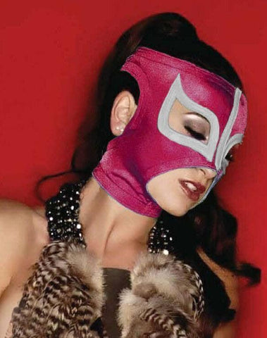 SEXY LADY MASK PINK Mexican Wrestling Lucha Libre Mask MEXICAN LUCHA LIBRE WRESTLING MASK HALLOWEEN