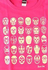 WOMAN MASCARAS Lucha Libre T shirt Short Sleeve Round Neck