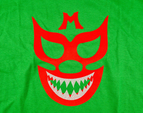 MIL MASKS Lucha Libre T shirt Short Sleeve Round Neck