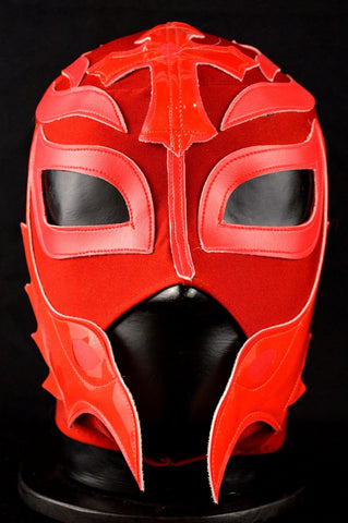 REY PLAIN RED Adult Mexican Wrestling Lucha Libre Luchador Mask Halloween - Lucha Libre Mexican Luchador Wrestling Masks mrmaskman.com