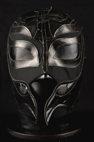 REY PLAIN BLACK Adult Mexican Wrestling Lucha Libre Luchador Mask Halloween - Lucha Libre Mexican Luchador Wrestling Masks mrmaskman.com