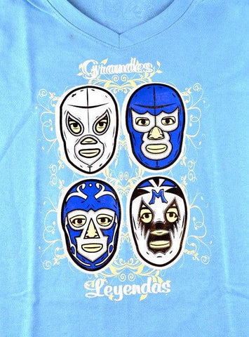 WOMAN LEYENDAS Lucha Libre T shirt Short Sleeve Round Neck