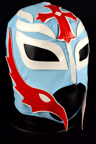 REY  LIGHT BLUE Adult Mexican Wrestling Lucha Libre Luchador Mask Halloween - Lucha Libre Mexican Luchador Wrestling Masks mrmaskman.com