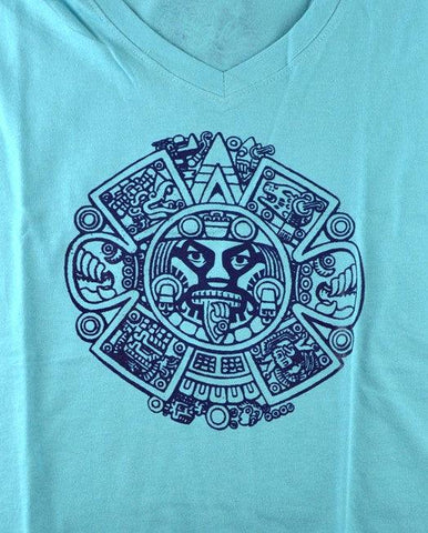 WOMAN SIGNO AZTECA Lucha Libre T shirt Short Sleeve Round Neck