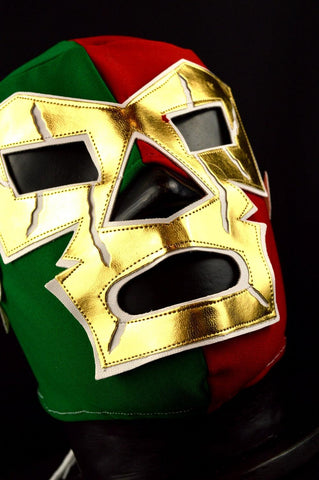 WAGNER TRICOLOR Premium Adult Mexican Wrestling Lucha LIbre Mask Halloween