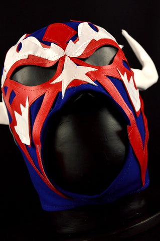 RENCOR BLUE Adult Mexican Wrestling Lucha Libre Luchador Mask Halloween - Lucha Libre Mexican Luchador Wrestling Masks mrmaskman.com