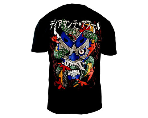 Dragon Lucha Libre T shirt Short Sleeve Round Neck