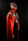 CAPE ADULT RED MEXICAN WRESTLING LUCHA LIBRE LUCHADOR HALLOWEEN COSTUME