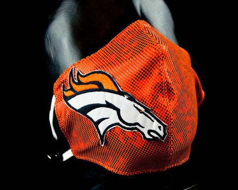 DENVER UNOFFICIAL NFL Luchador Protective Reusable Breathable Washable Mouth Cover Face Mask