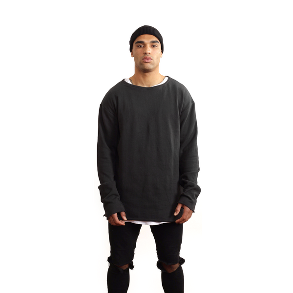 Black Long Sleeve Crew