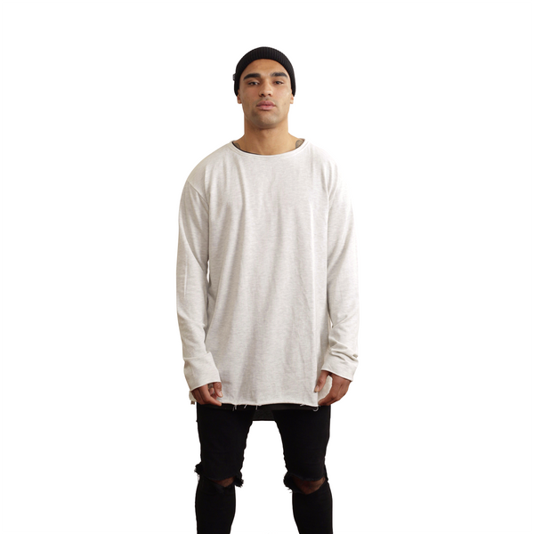 Grey Long Sleeve Crew