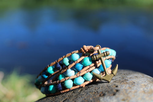 Seascape Anchor Wrap Bracelet
