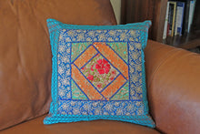 Aqua Silk Pillow Cover