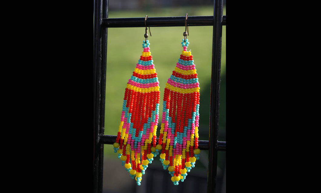Aztec Beads Earrings