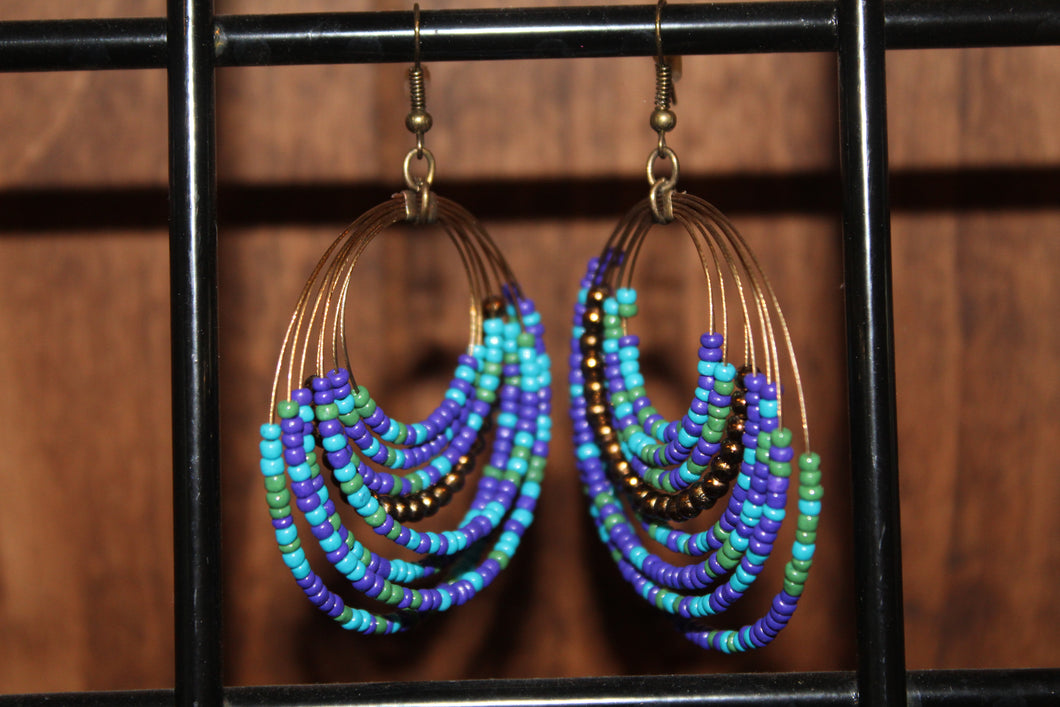 Copper Blues Earrings