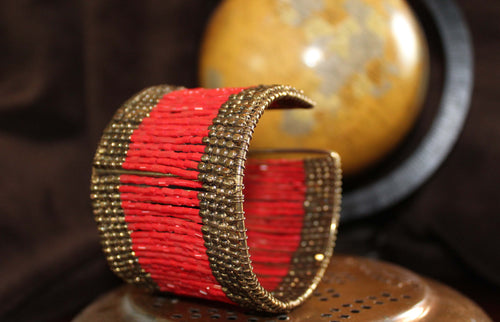 Showstopper Beaded Cuff Bracelet