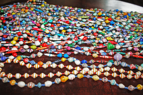 Paper Bead Necklaces (Uganda)