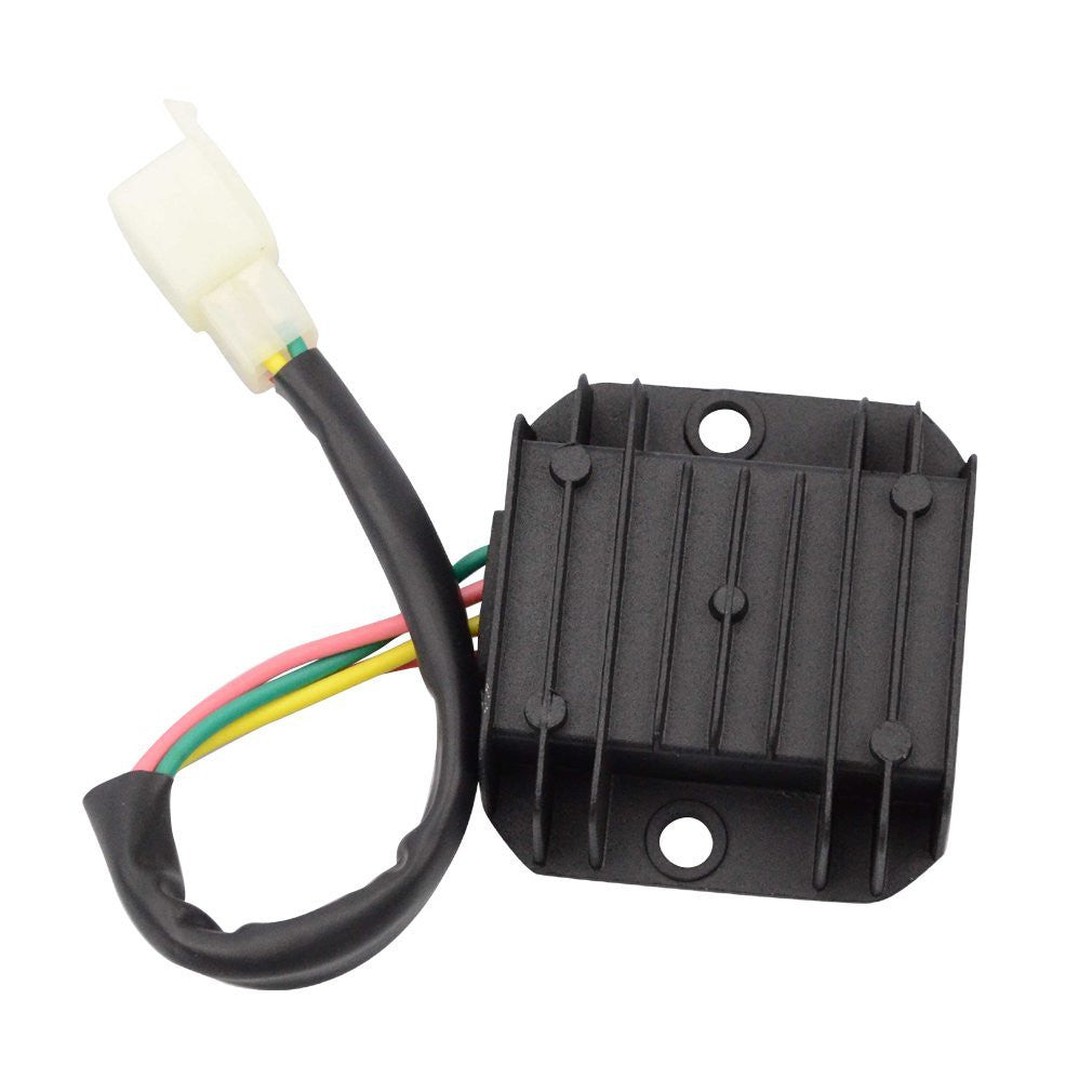GOOFIT 4 Pin Voltage Regulator for GY6 150cc and CG 125cc 150cc 200cc 250cc  Vertical Engine ATV Dirt Bike Go Kart Moped Scooter