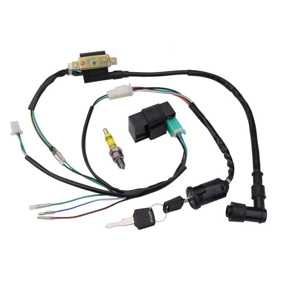 Atv Wiring Harness Kit Electronic Diagrams 110 Stator Diagram Wire Motorcycle Go Kart Scooter Dirt Bike Goofit Bmx Parts