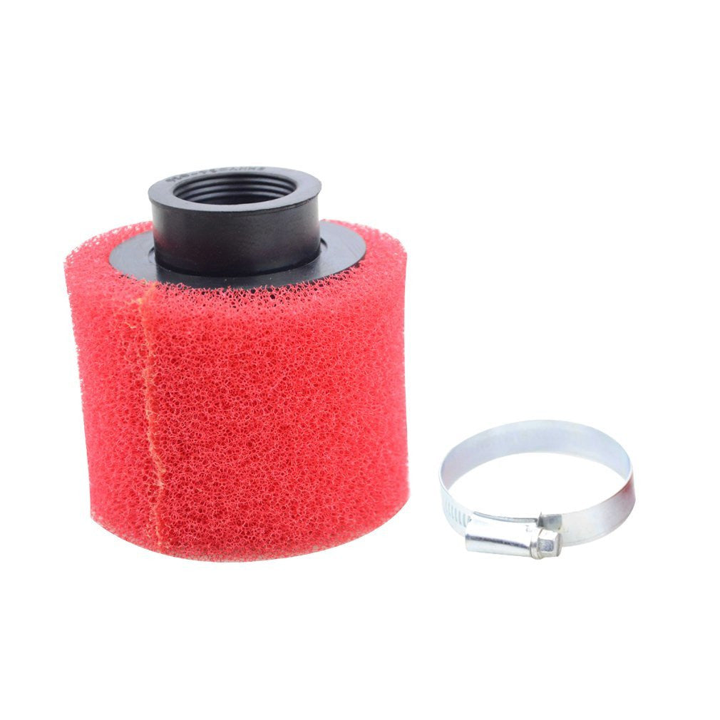 GOOFIT 39mm Cleaner Air Filter for Honda XR50 CRF50 XR CRF 50 4 Stroke 50cc 70cc 90cc 110cc 125cc 150cc 200cc ATV Quad Go Kart Cart Dirt Bike Red