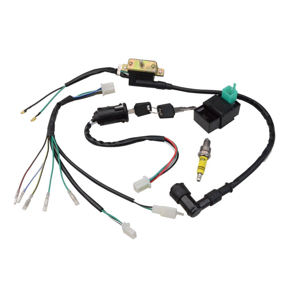 61Z7DcRoUGL._SL1010_1024x1024?v=1488901743 wire harness motorcycle, go kart, atv, scooter, dirt bike rebuild motorcycle wiring harness at crackthecode.co