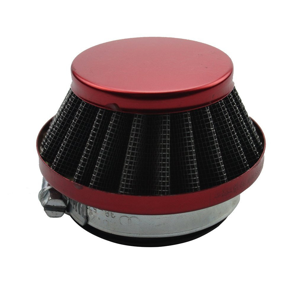 GOOFIT 44mm Red Air Filter for 2 Stroke 47cc 49cc ATV Pocket Bike Mini Quad