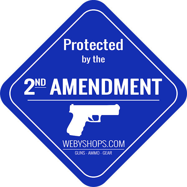 2ND AMENDMENT LAWN SIGN with 2ft YARD STAKE (10005) | Webyshops.com