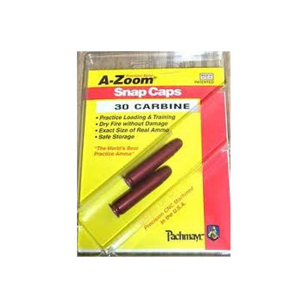 A-ZOOM Precision Metal 2-Pack of 30 Carbine Snap Caps (12225)