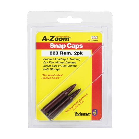 A-ZOOM Precision Metal 2-Pack 223 Rem Snap Caps 12222