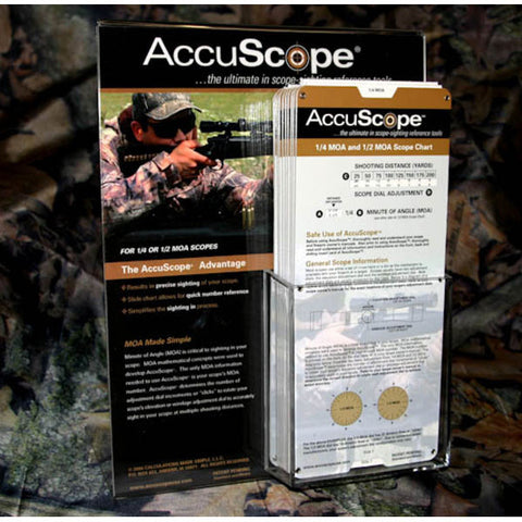 ACCUSCOPE 1/4 MOA and 1/2 MOA Scope Sighting Tool (Chart) (14MOA)