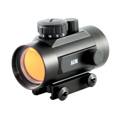 AIMSPORT 1x42 Red Dot Sight, Weaver Base w/Flip-Up Lens (RT42W)