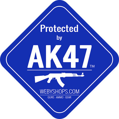 AK 47 LAWN SIGN with 2ft YARD STAKE (10002) | Webyshops.com