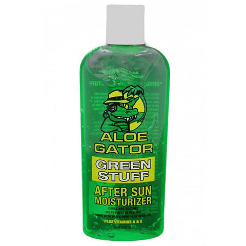 ALOE GATOR Green Stuff Aloe Vera, After Sun Moisturizer,  8oz Bottle (10185)