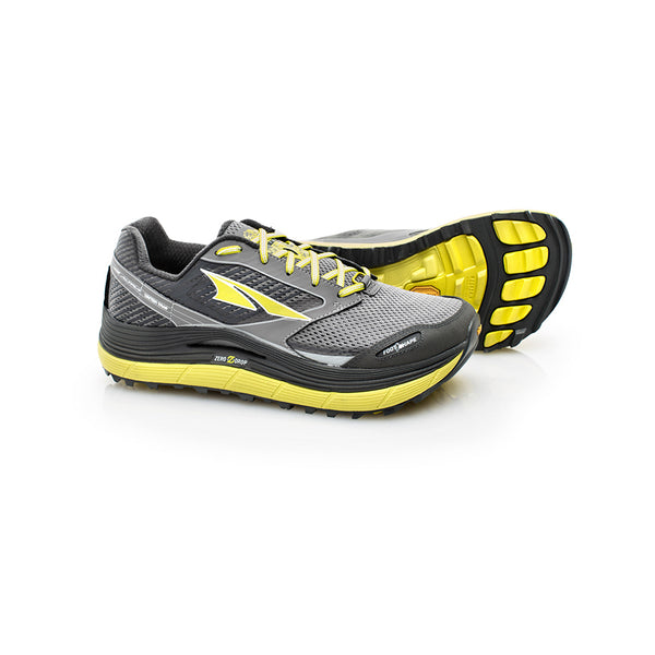ALTRA Mens Olympus 2.5 Gray-Lime Trail Running Shoes (AFM1759F-3)