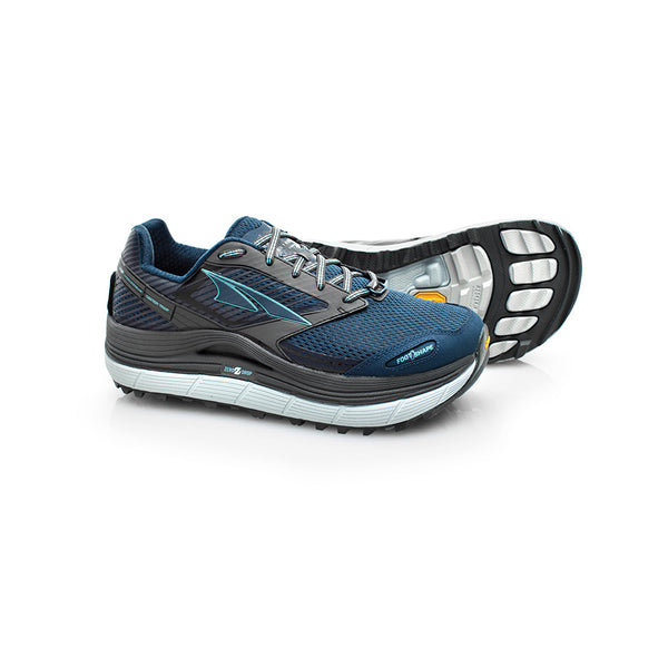 ALTRA Womens Olympus 2.5 Gray-Blue Trail Running Shoes (AFW1759F-4)