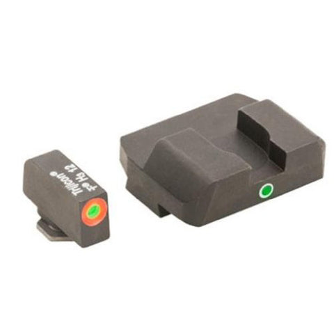 AMERIGLO Glock 17, 19, 22 Pro I-Dot Front/Rear Tritium Sight, Green/Orange (GL-201O)
