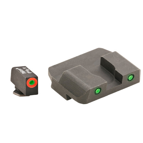 AMERIGLO Glock 17, 19, 22 Spartan Tactical Operator Night Sight, Green/Green (GL-446)