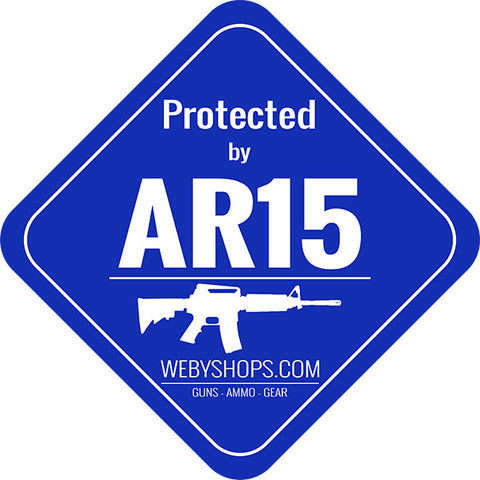 AR 15 LAWN SIGN with 2ft YARD STAKE (10004) | Webyshops.com