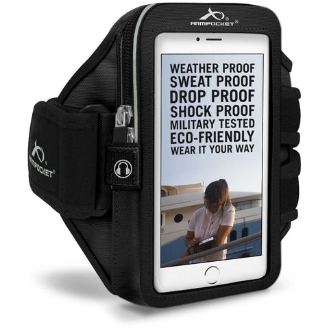 ARMPOCKET 40BK Black Mega i-40 Armband Phone Case