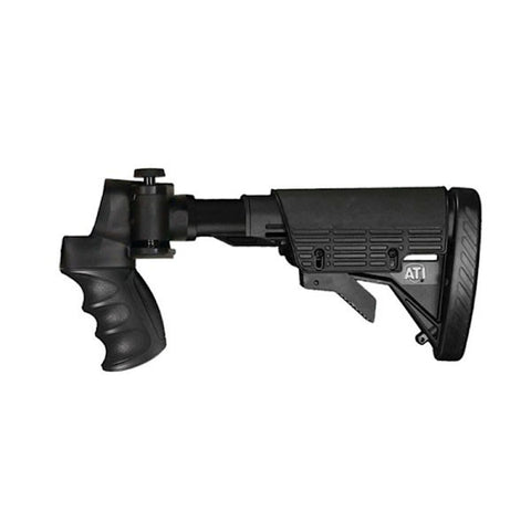 ATI 6-Position Folding Stock, Moss/Win/Rem 12Ga/20Ga, Black (A1101135)