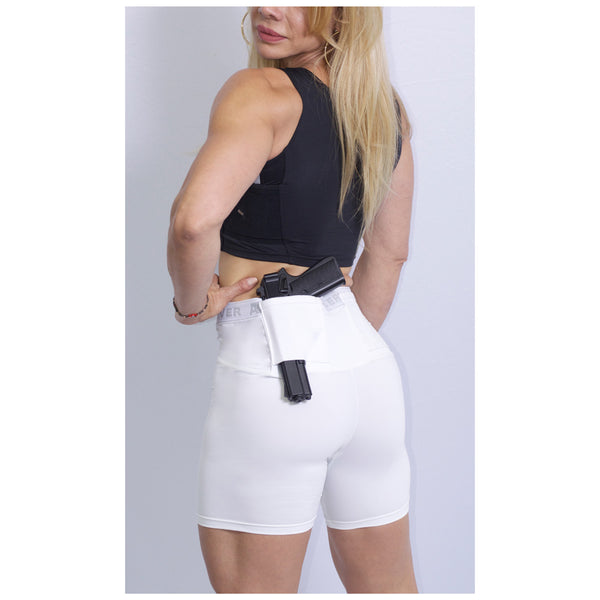 AC UNDERCOVER Womens Concealment Performance White Short (311-WHT)