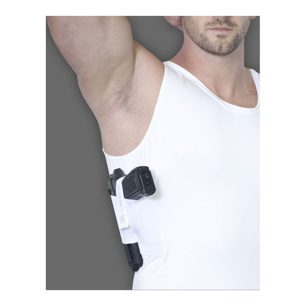 AC UNDERCOVER Mens Compression Concealment White Tank Top Shirt (513-WHT)