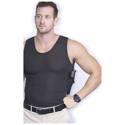 AC UNDERCOVER Mens Elite Edition Concealment Black Tank Top Shirt (514-BLK)
