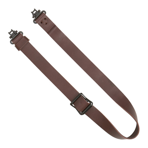 ALLEN COMPANY Slide and Lock Leather Brown Sling (8432)