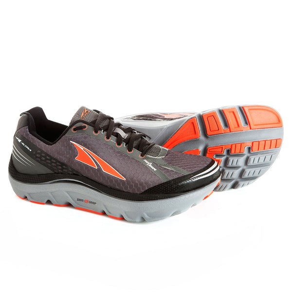 ALTRA Mens Paradigm 2.0 Gray/Orange Running Shoes (A1635-3)
