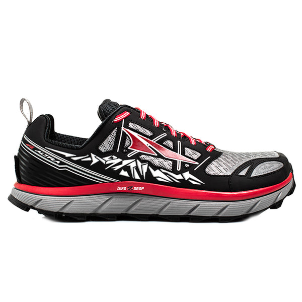 ALTRA Mens Lone Peak 3 Black/Red Running Shoes (A1653-1)