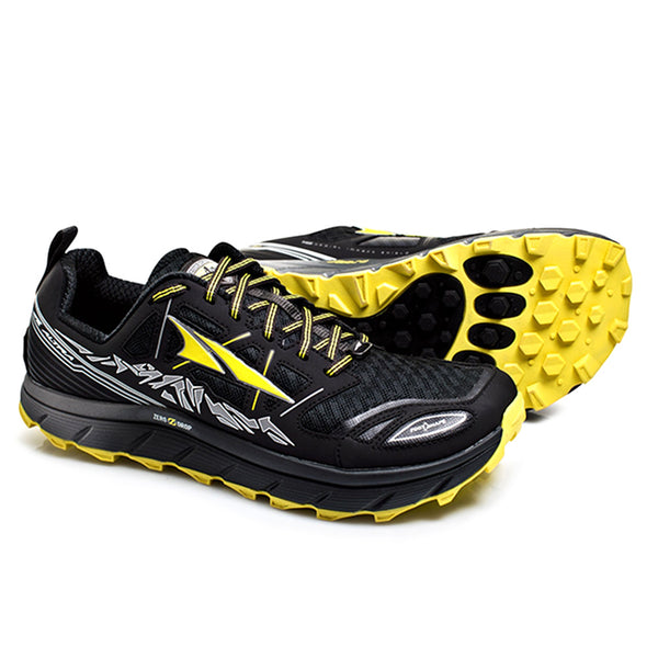 ALTRA Mens Lone Peak 3 Black/Yellow Running Shoes (A1653-6)