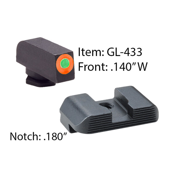 AMERIGLO Glock Hackathorn Glk 17-39 Green Sight GL-433